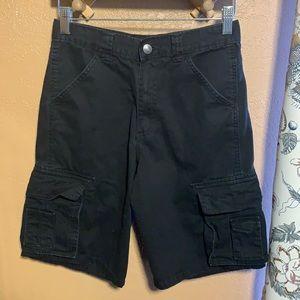 Wrangler Boys Black Cargo Shorts Size 14